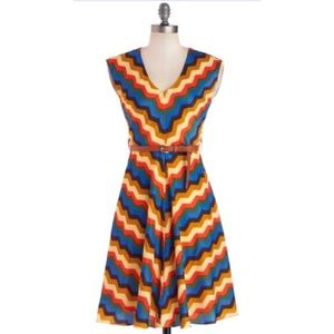 ModCloth Know Every Angle Dress in Zig Zag